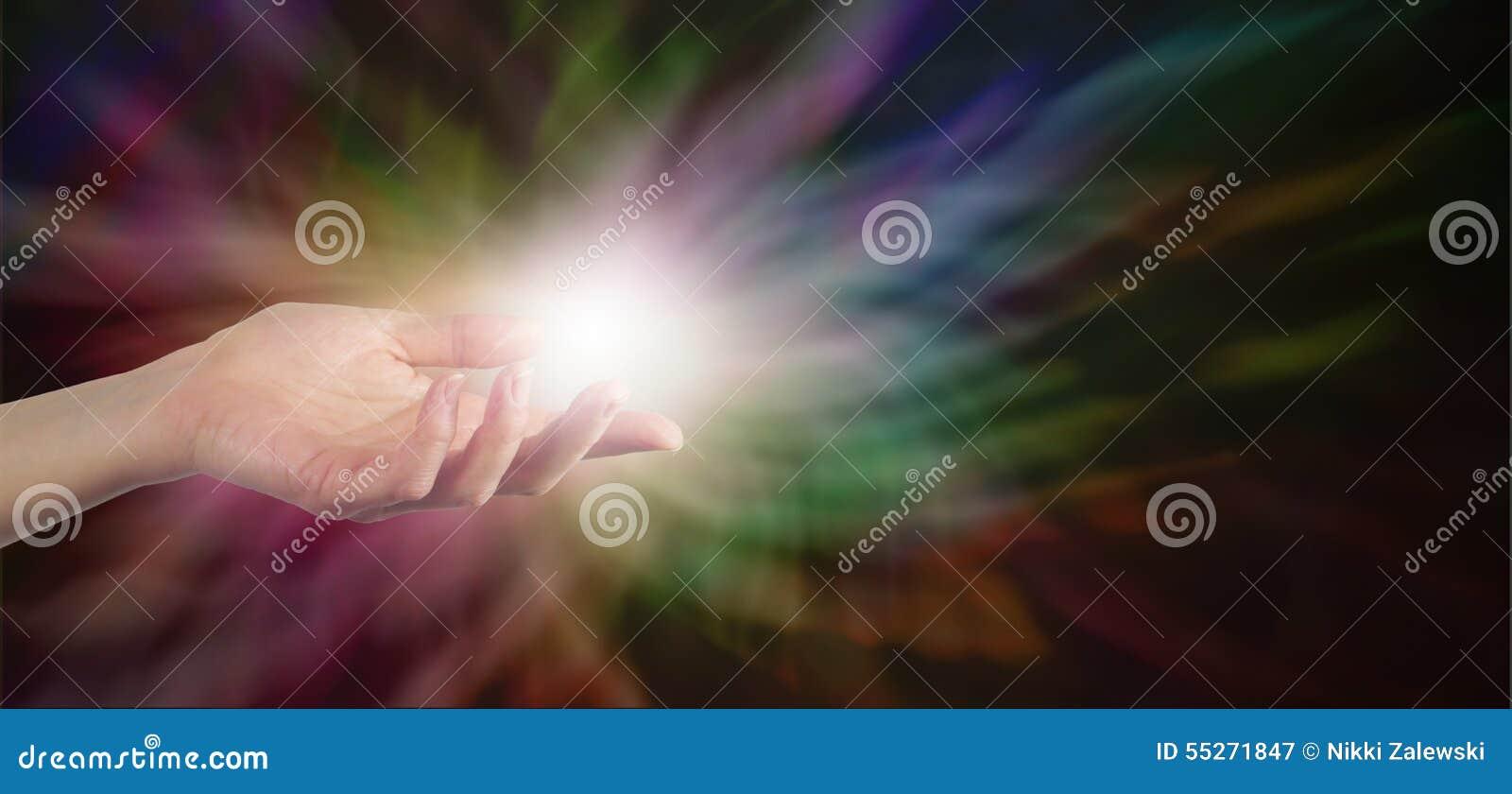 Sending Healing Energy Stock Photo Image 55271847