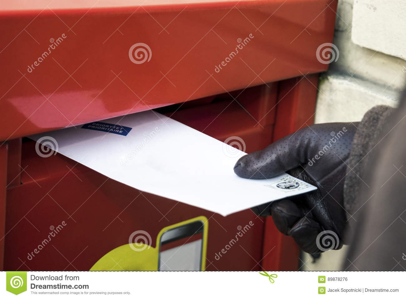 Sending A Letter Stock Photo Image Of Female Prioritaire