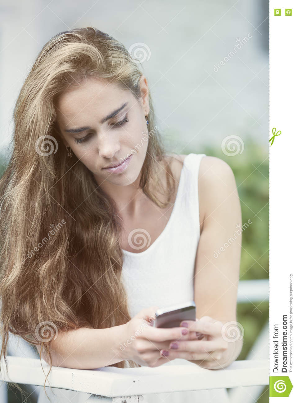 Download Sending the message stock photo. Image of lifestyle, beautiful - 77066870