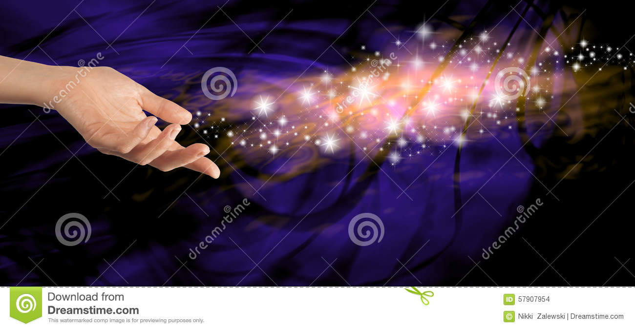 Sending Out Special Energy Stock Photo Image 57907954