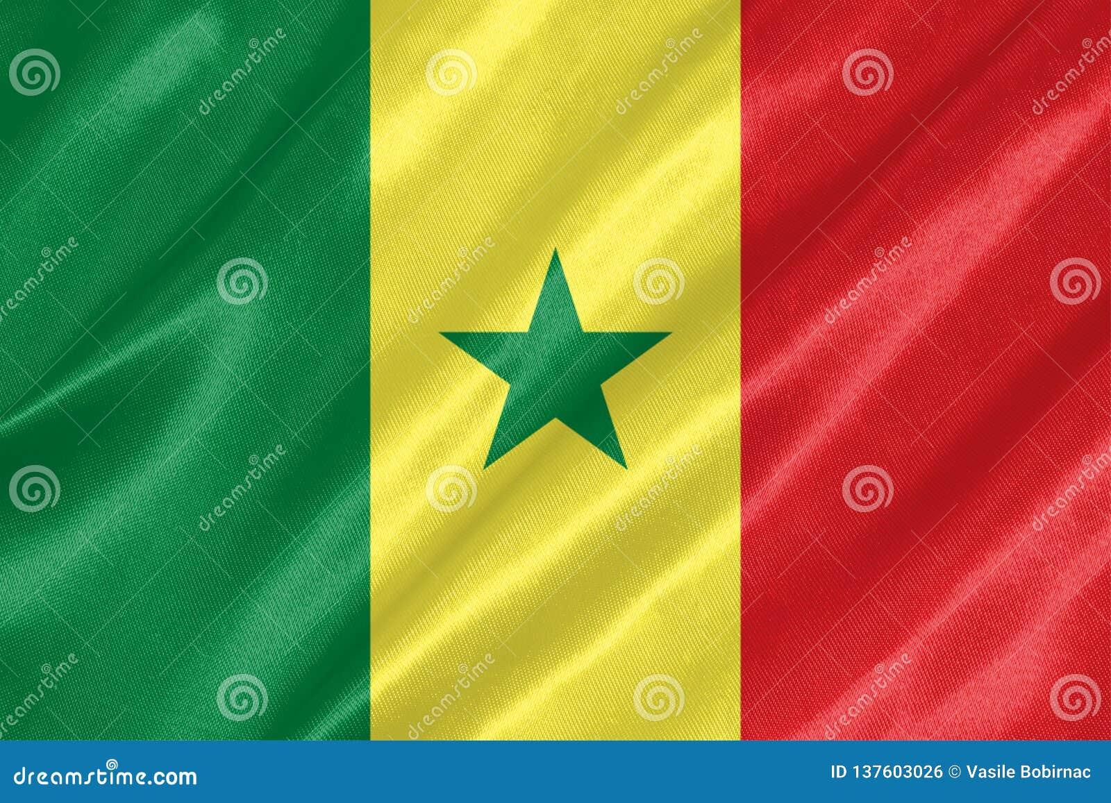 Senegal-Flagge