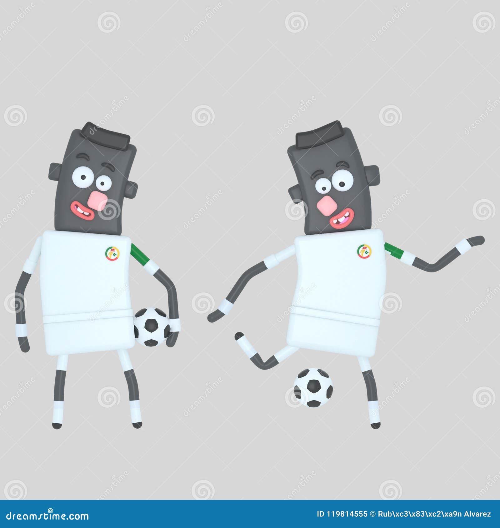 Senegal gracz piłki nożnej ilustracja 3 d