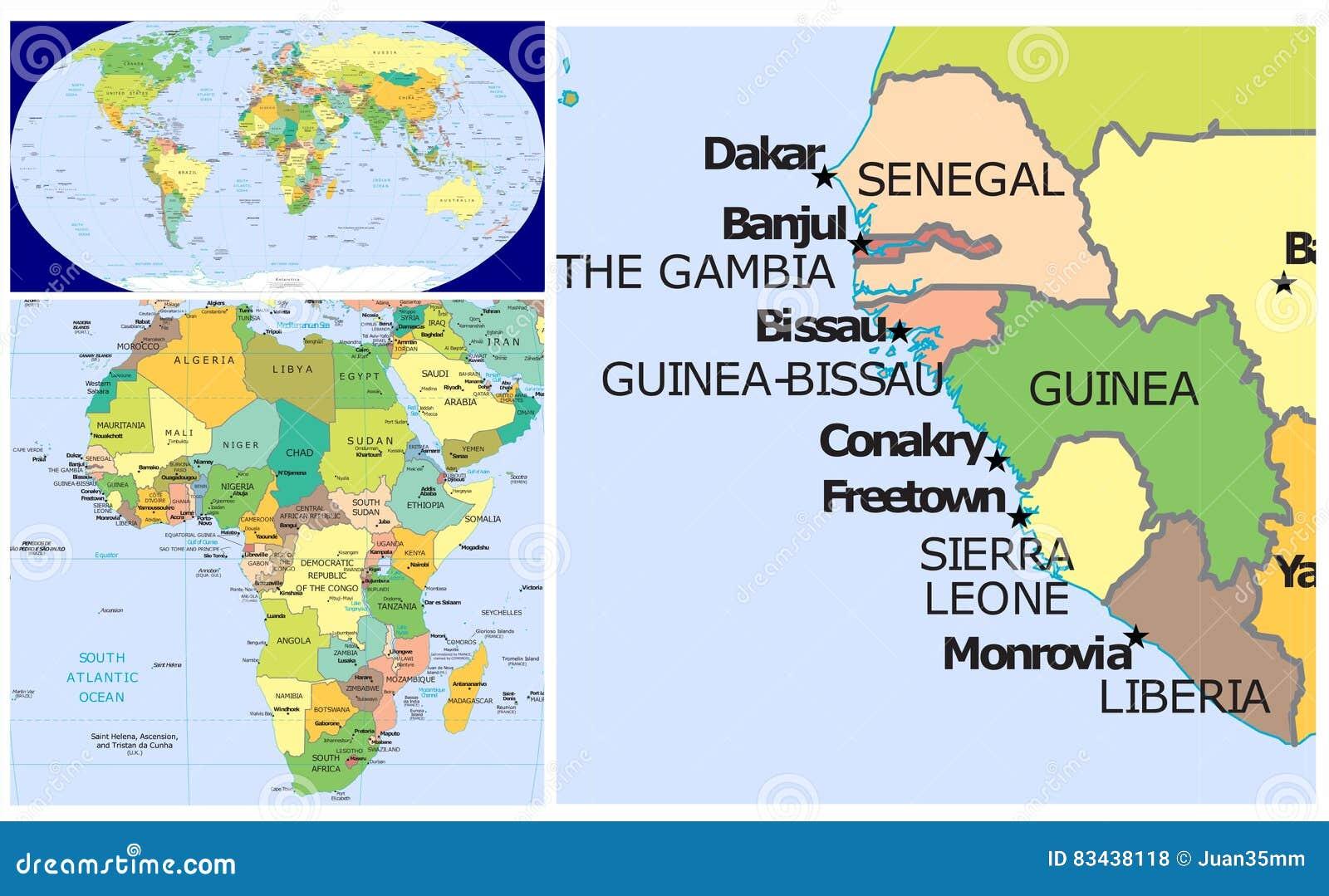 Senegal guinea liberia world stock illustration illustration of senegal guinea liberia world gumiabroncs Choice Image