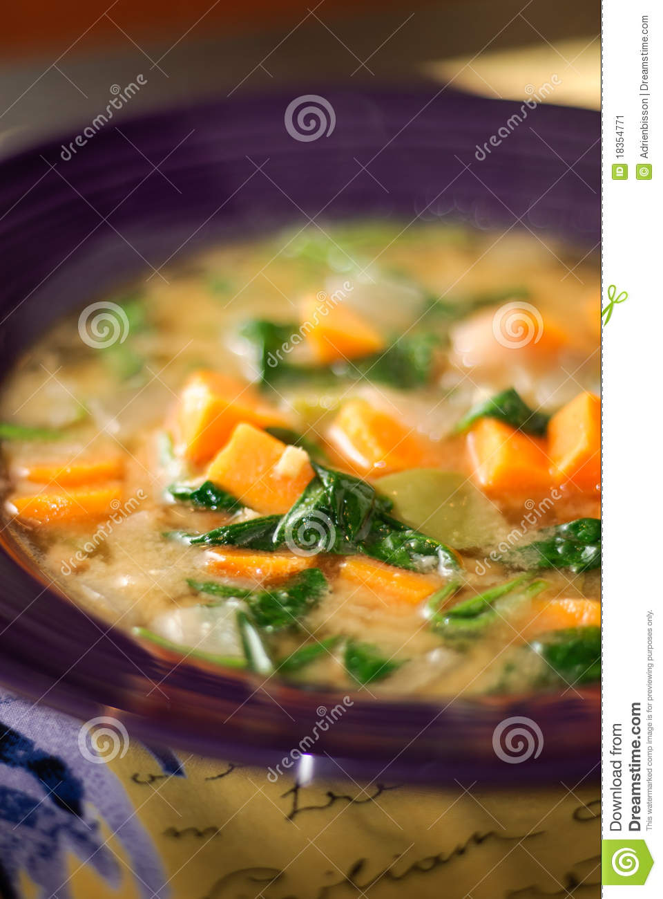 Senegalese Peanut Stew With Spinach & Sweet Potato Stock Image - Image ...