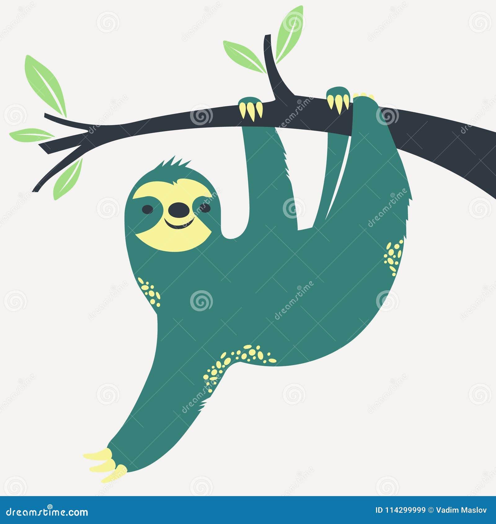 Sengångare som hänger på trädet
