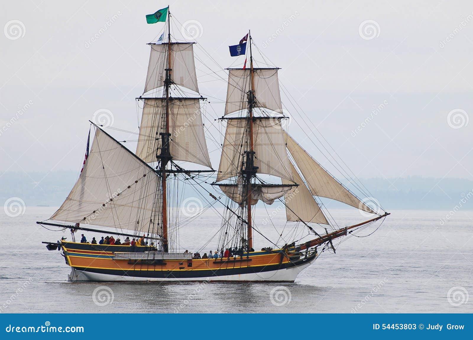 Senhora alta Washington do navio