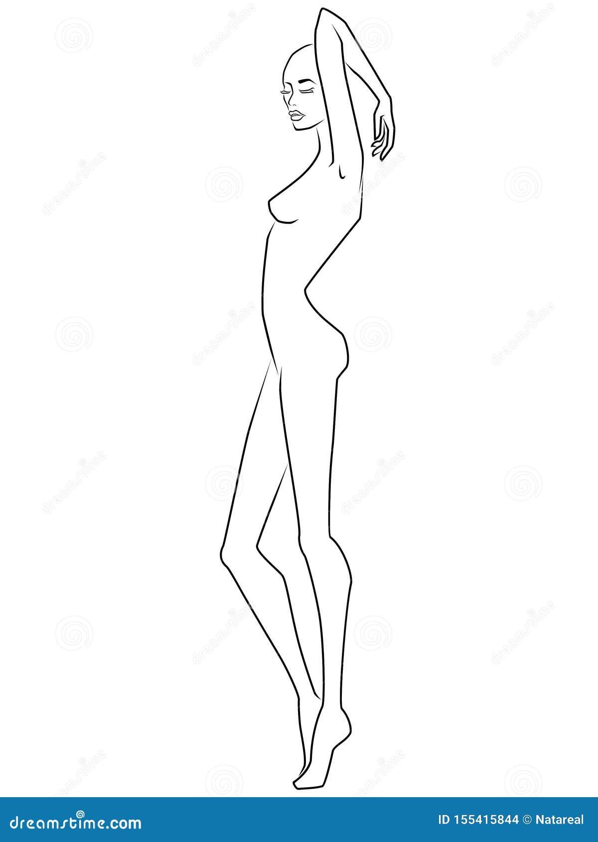 Senhora atrativa e elegante abstrata