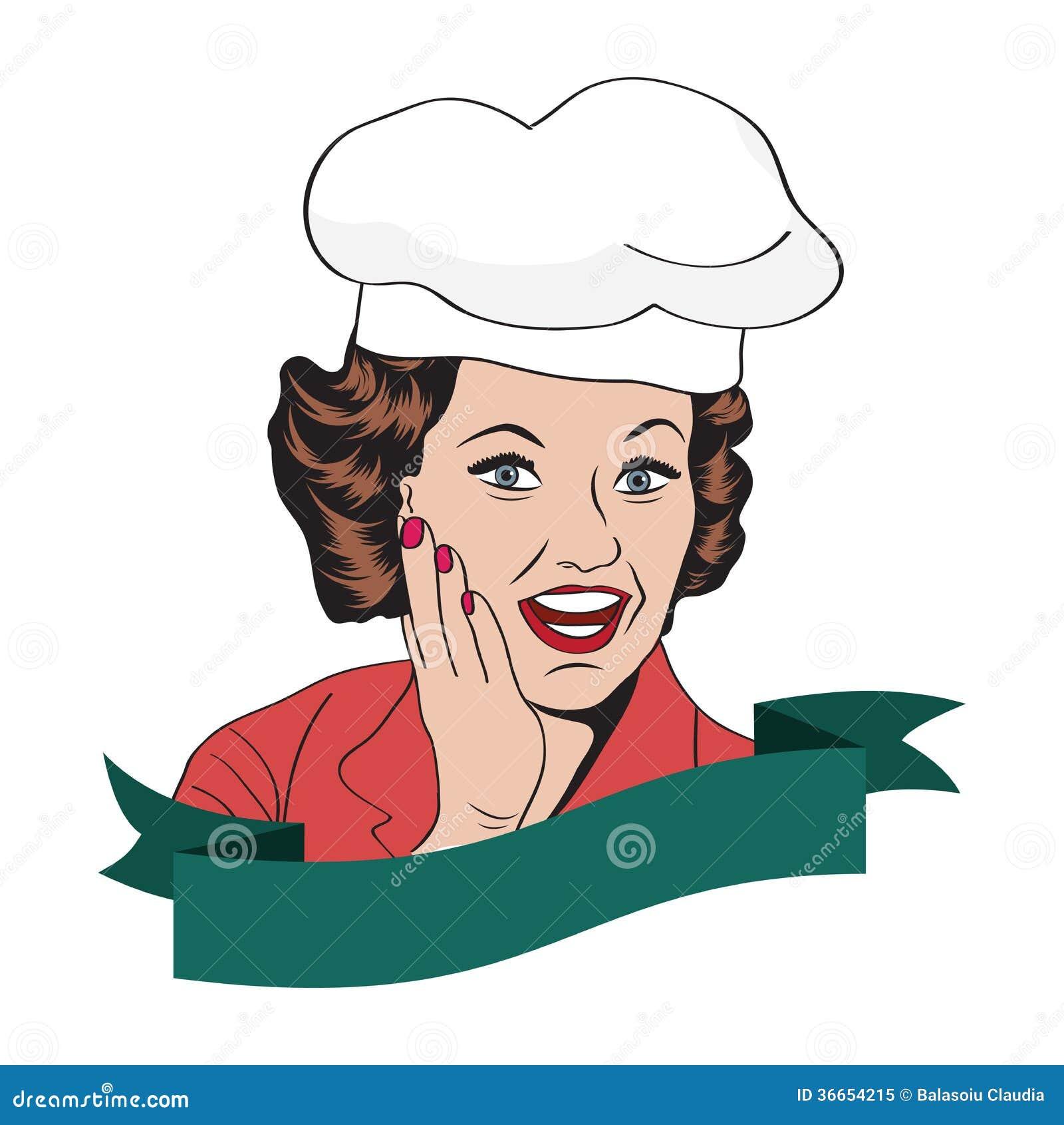 Senhora Chef, ilustração retro
