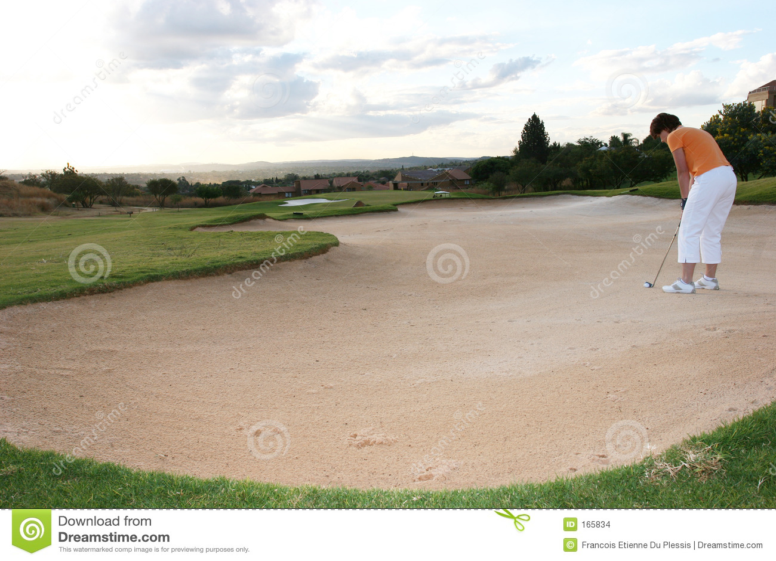 Senhora Jogador de golfe