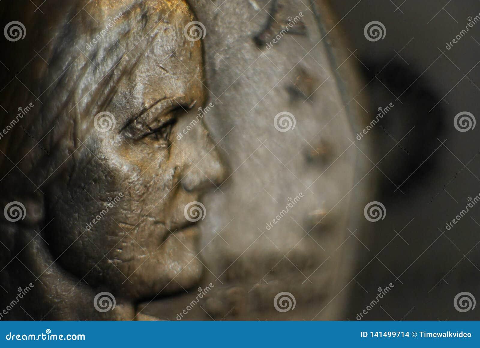 Senhora Liberty na moeda do dólar