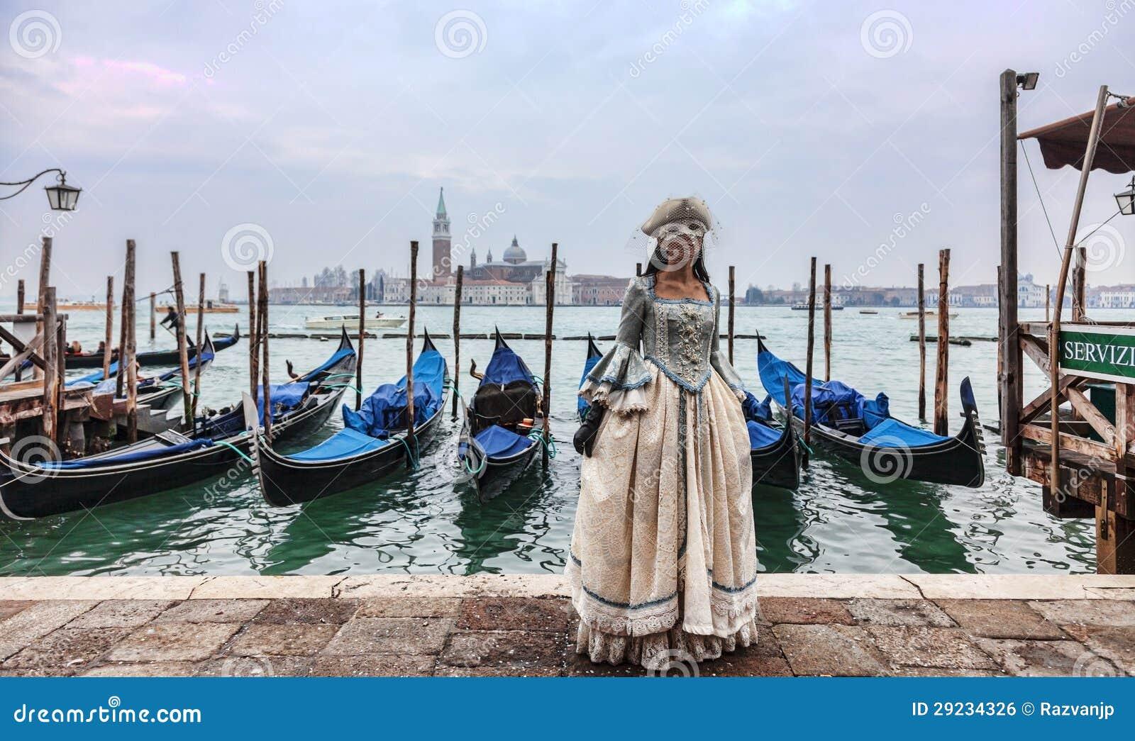 Download Senhora Venetian foto editorial. Imagem de esconda, marco - 29234326