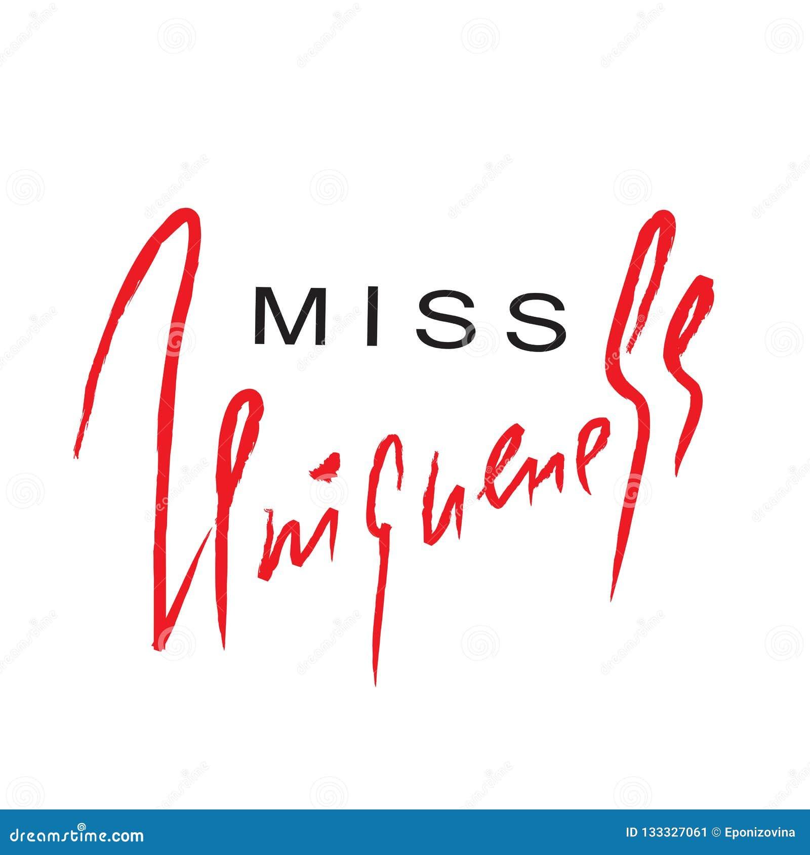 Senhorita Uniqueness - emocional inspire e citações inspiradores Rotulação bonita tirada mão