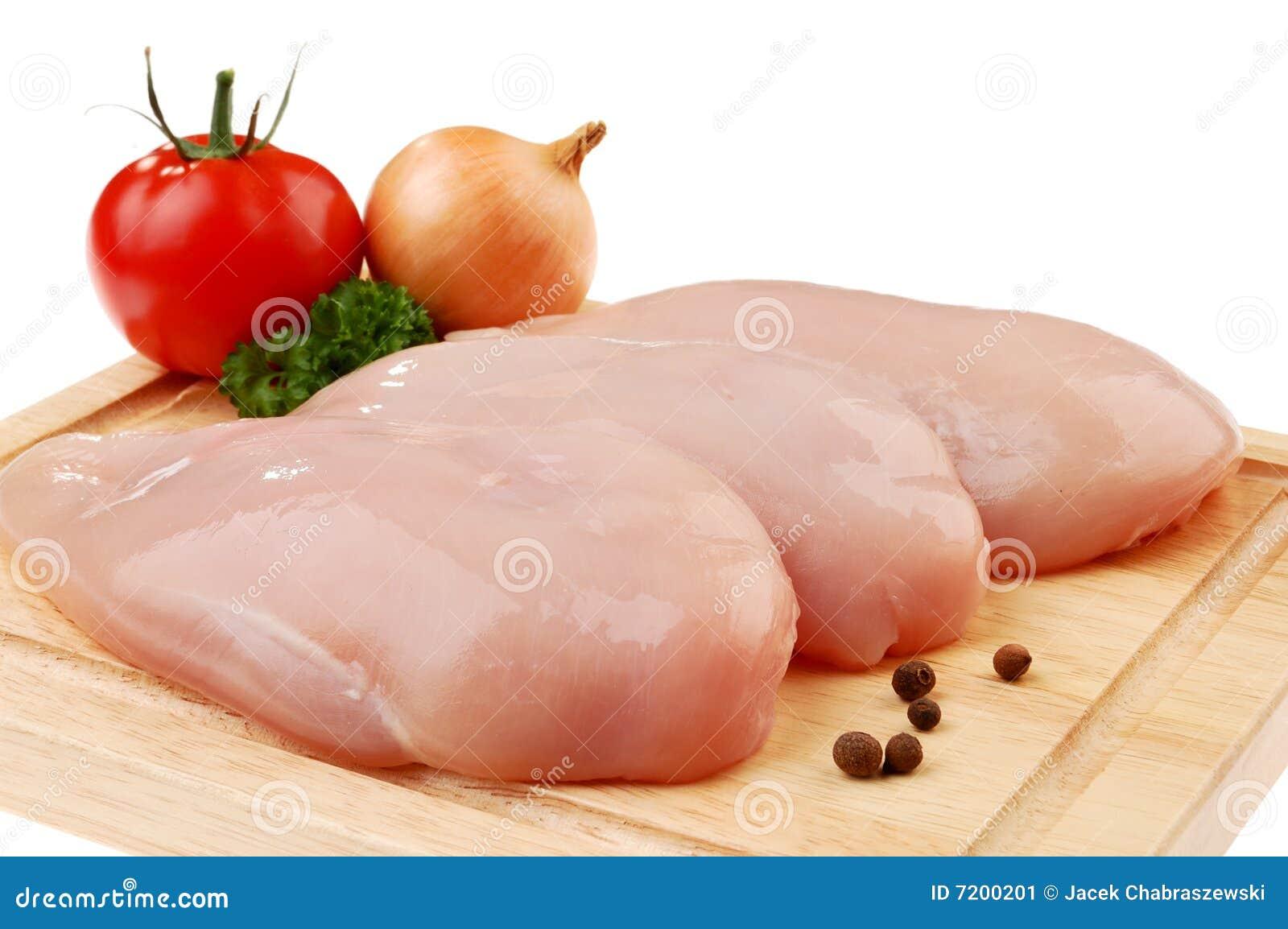 Seni di pollo grezzi freschi