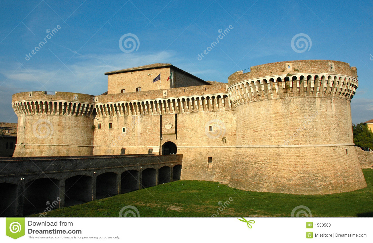 Senigallia Italy  city photos gallery : Senigallia ITALY Della Rovere Medieval Castle Royalty Free Stock ...