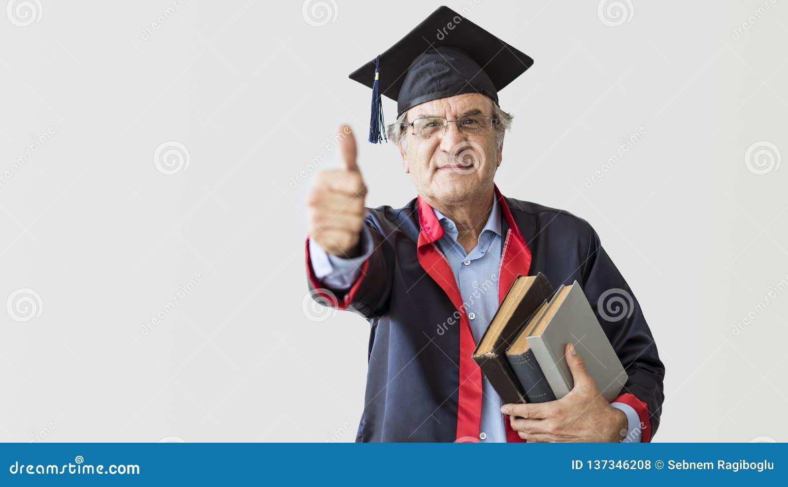 Senior adult man in cap