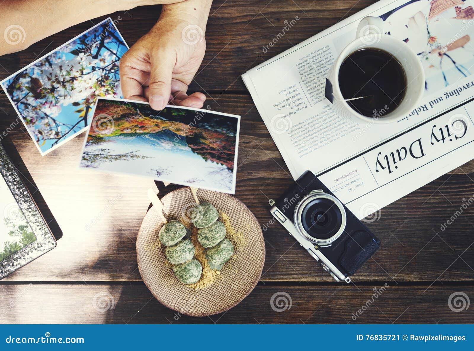 Senior Adult Reminding Memory Photos Couple Concept