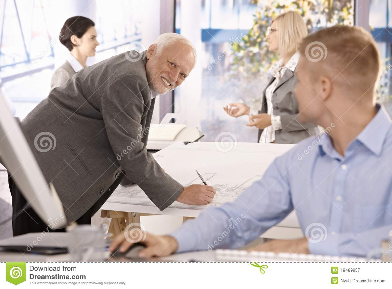 Architect at work royalty free stock photography for Architect at work