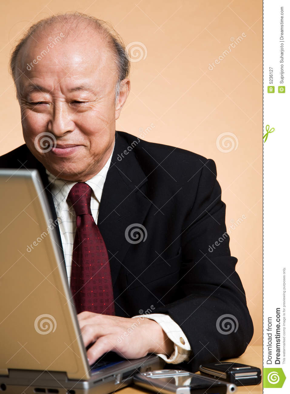 Senior asian businessman