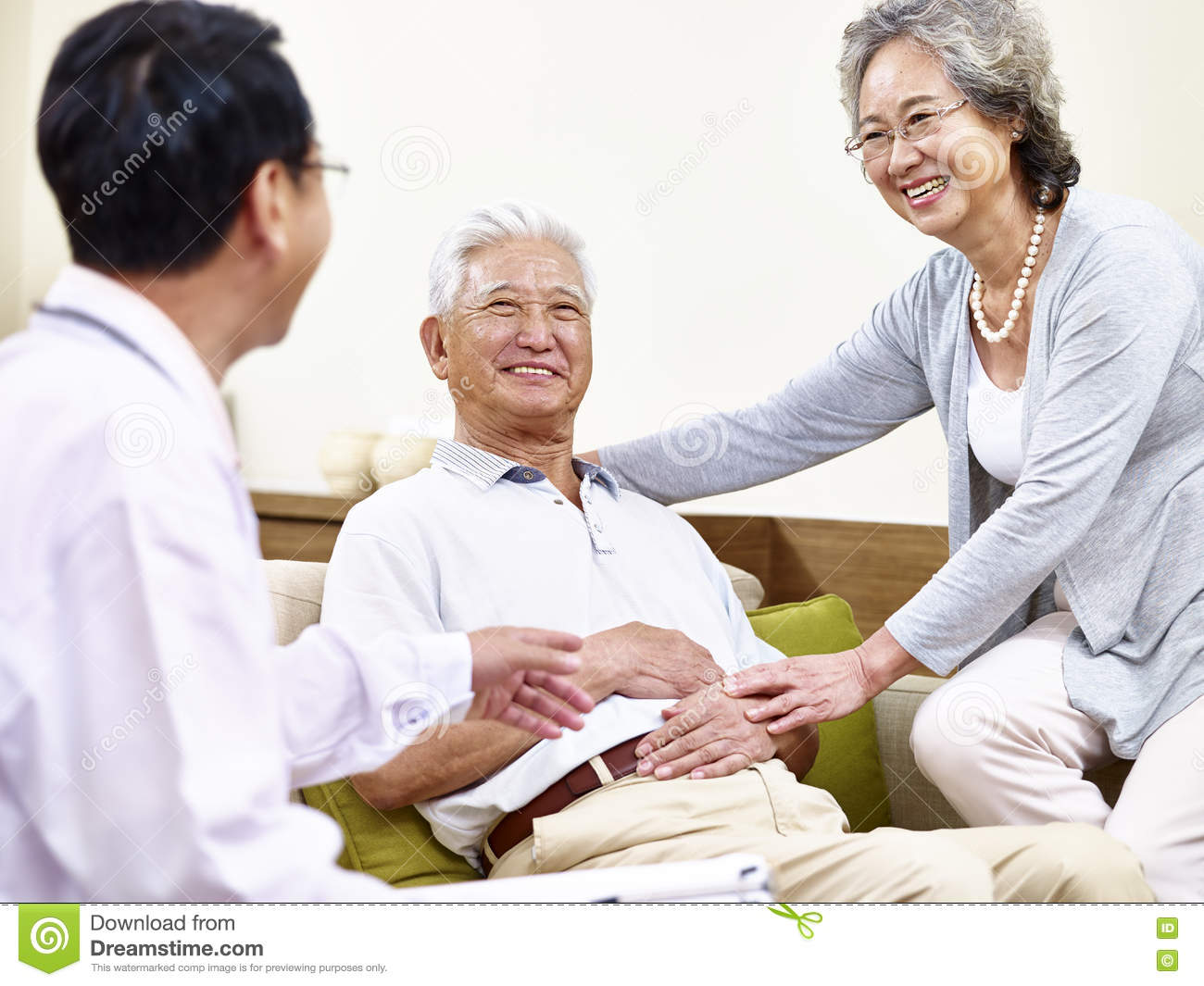 Patient asian family