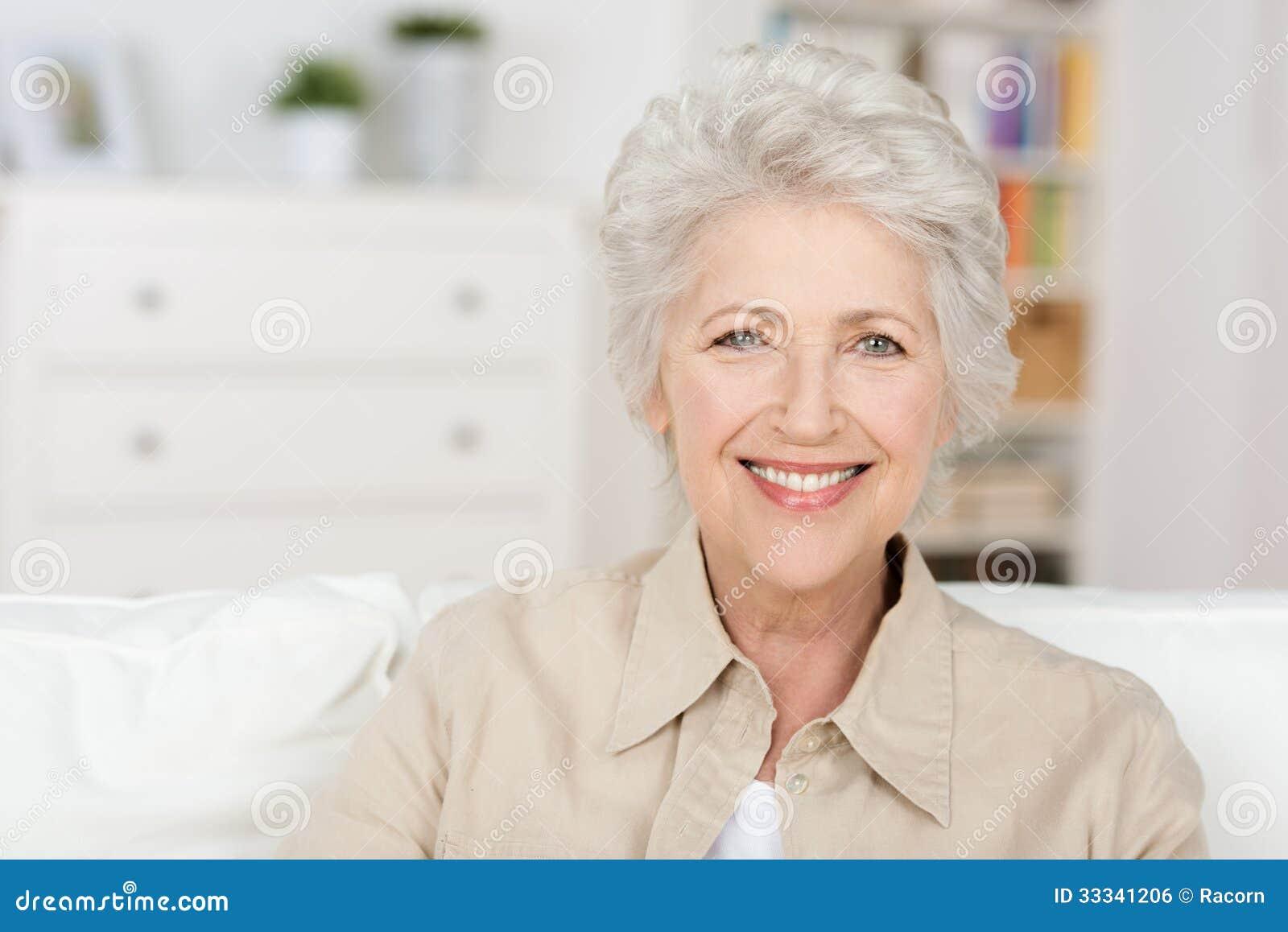 Senior beautiful woman enjoying the retirement