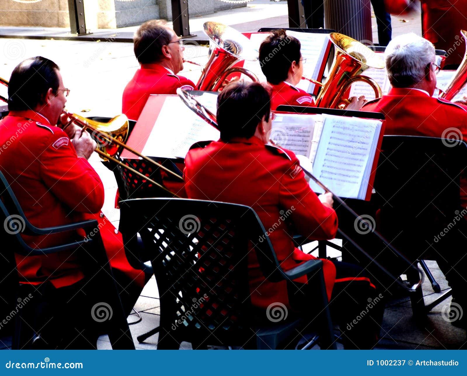 Senior big band stock image  Image of group, print, trumpet - 1002237