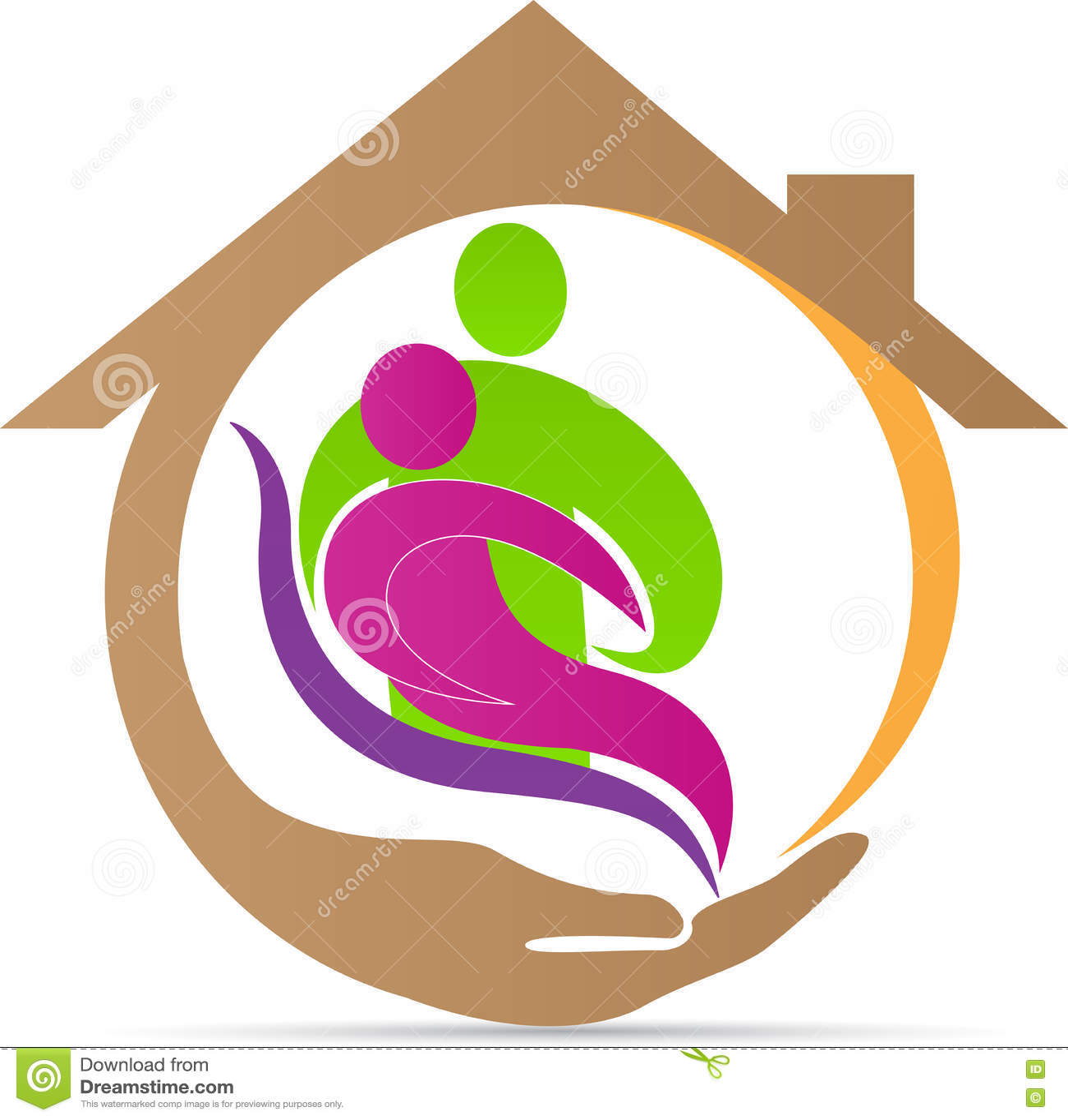 Senior Care Logo Stock Vector - Image: 75699817 Nursing Symbol Design