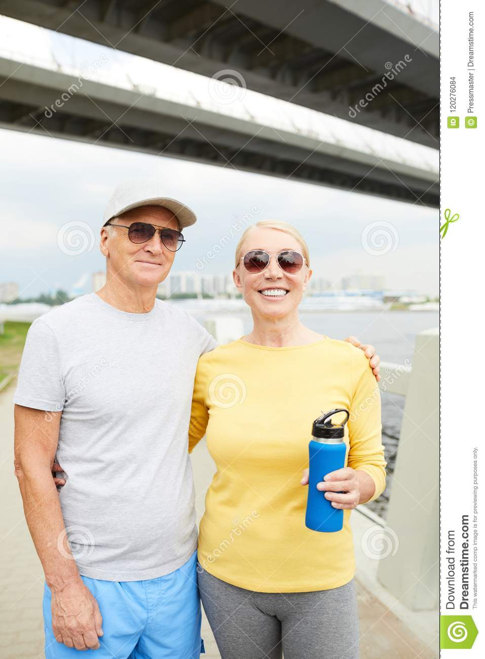 customers first hot products best shoes Active seniors stock photo. Image of sport, embrace - 120276084