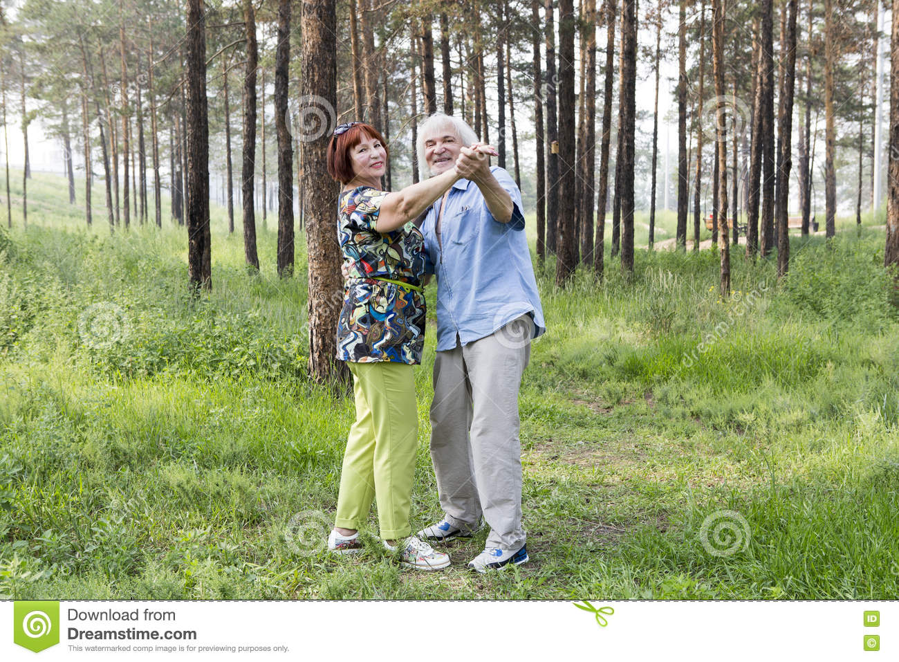Download Senior Couple Dancing In A Summer Forest Stock Photo - Image of nature, nice: 80059210