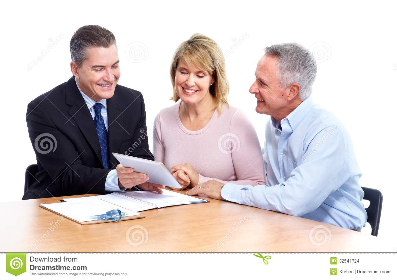 Senior Couple With Financial Adviser. Stock Images - Image: 32541724