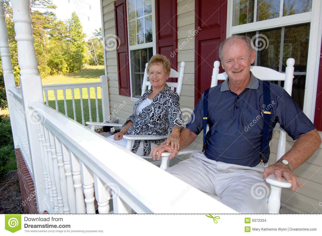 Senior Couple On Front Porch Stock Images Image 6372334