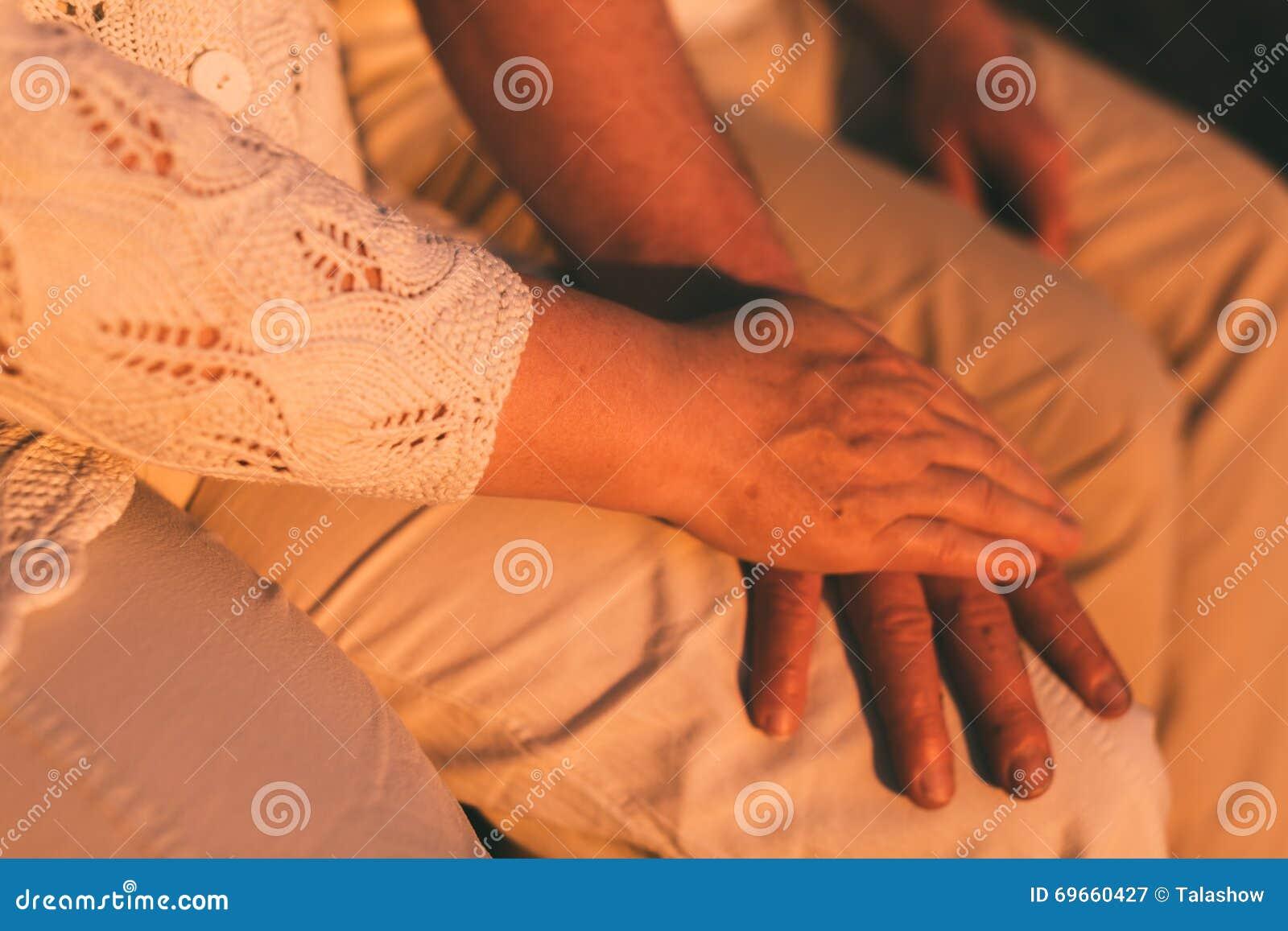Senior Couple Hands Together Photo. Stock Photo - Image: 69660427
