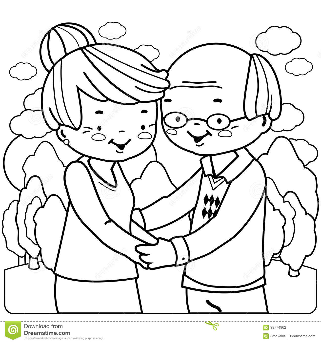 man and woman coloring pages - photo#7