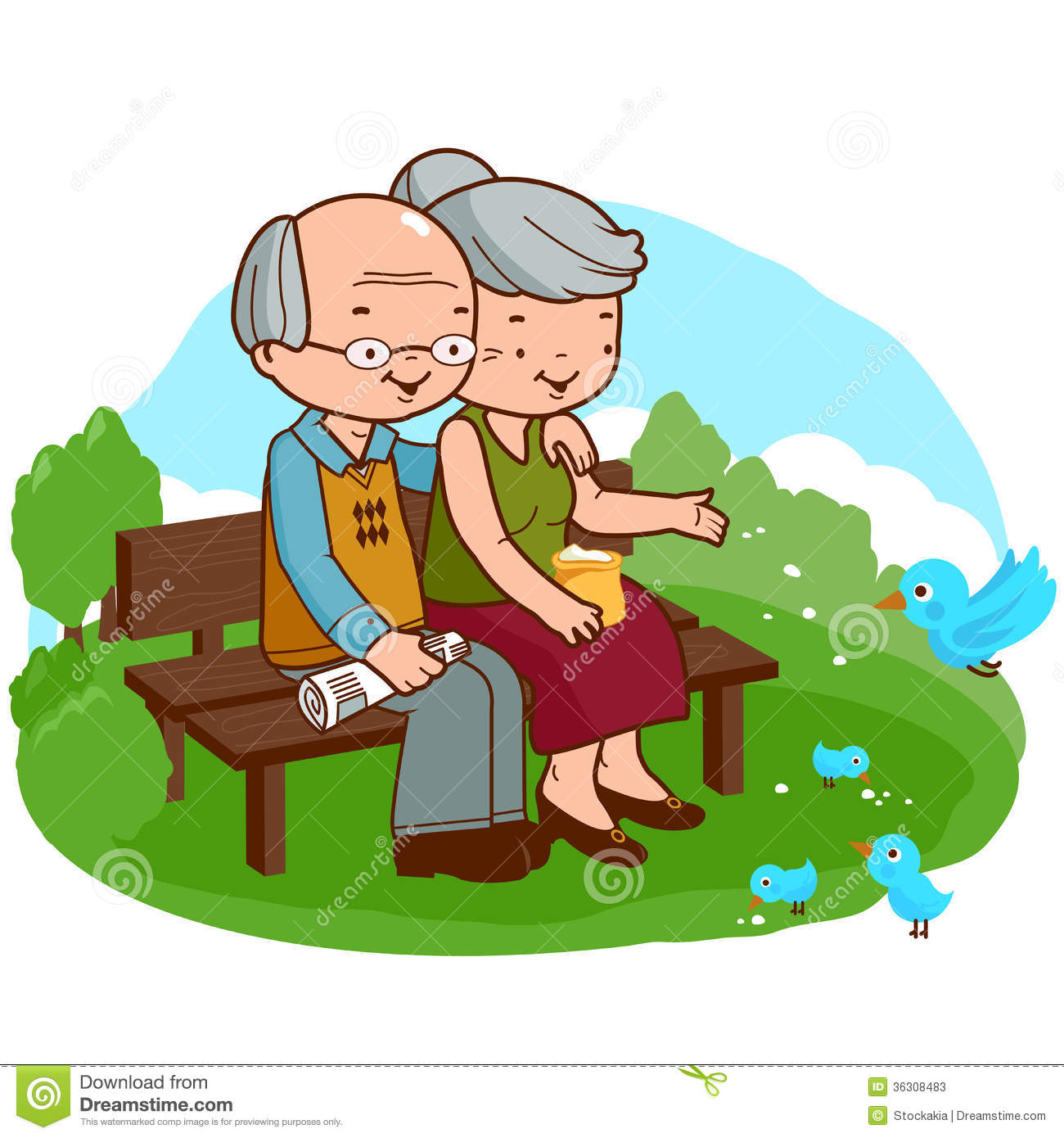 Old Couple At The Park Stock Photos Image 36308483