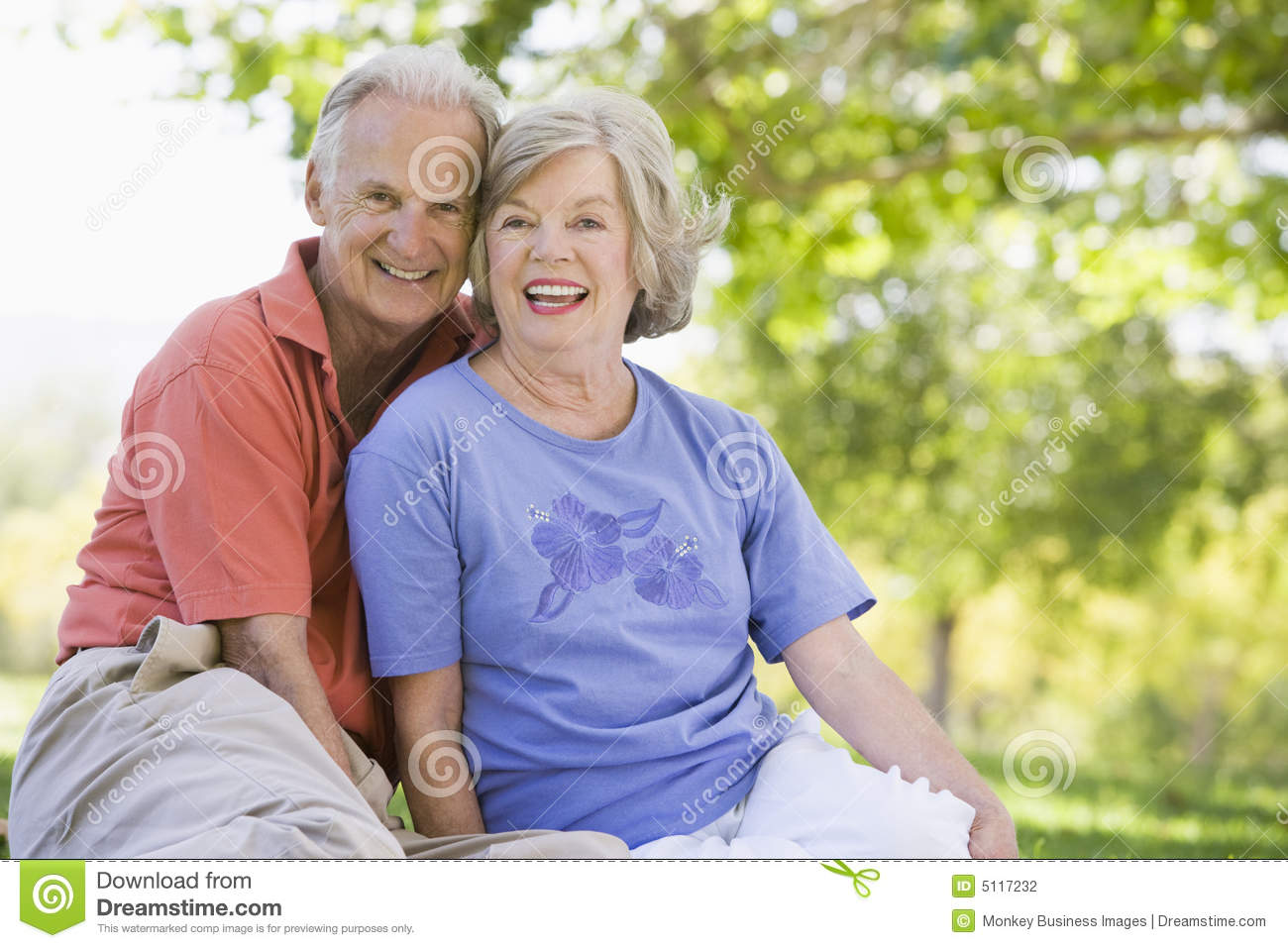 Download Senior Couple Relaxing In Park Stock Photo - Image of pensioner, friendship: 5117232