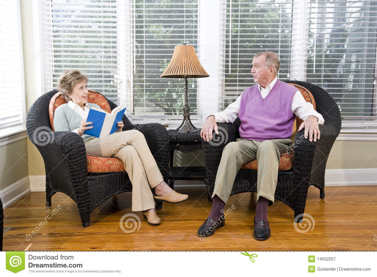 sitting chairs for living room. Royalty Free Stock Photo  Download Senior Couple Sitting On Living Room Chair Reading