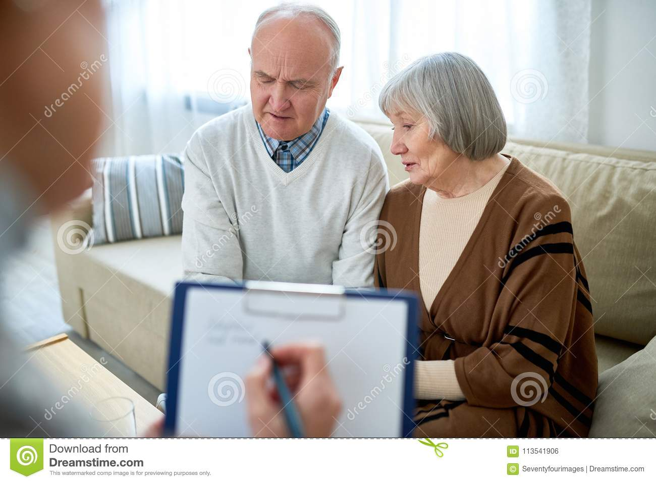 Senior Couple in Therapist Office