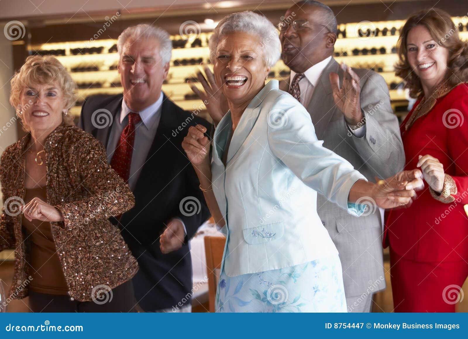 Senior Couples Dancing At A Nightclub