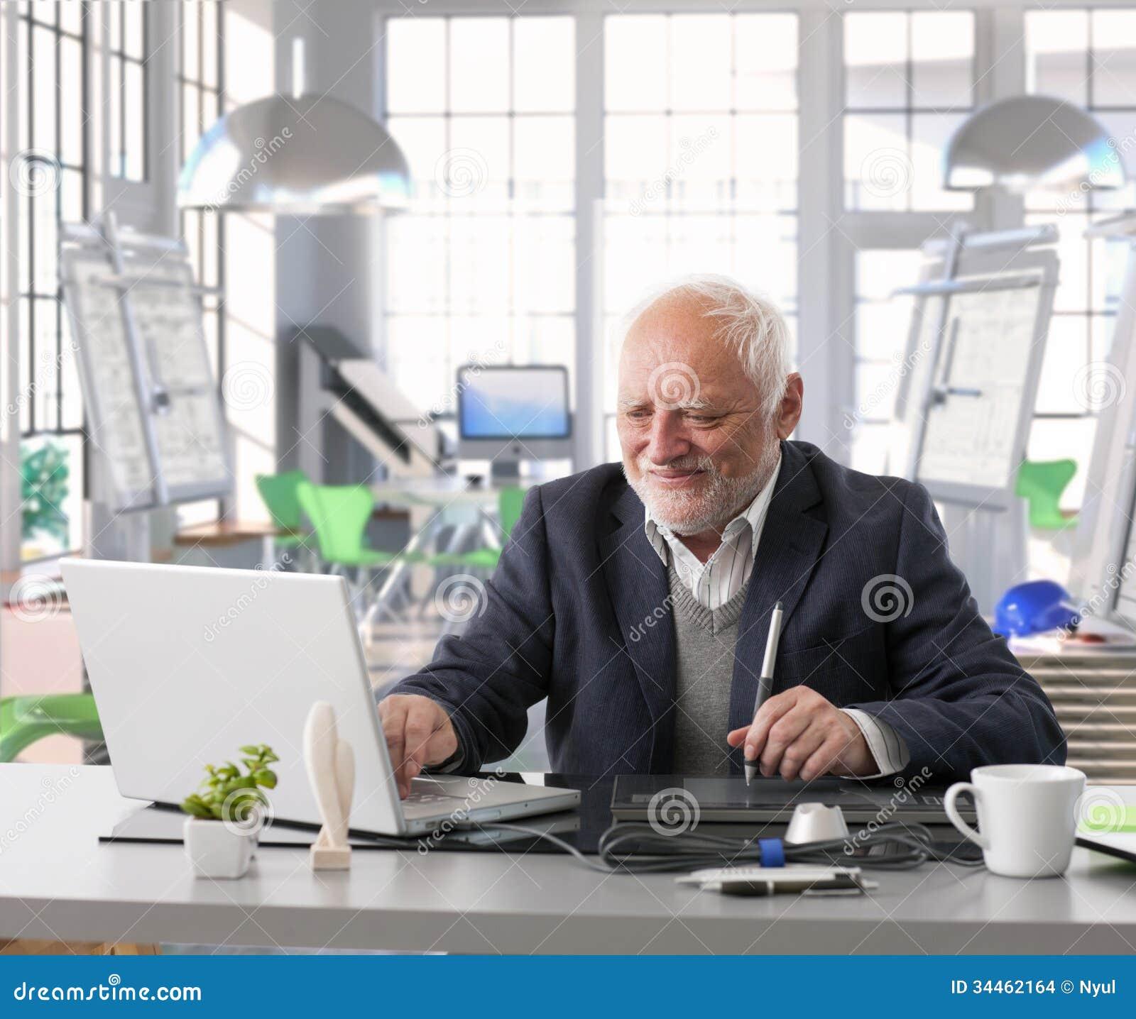 Senior engineer in design work at architect studio