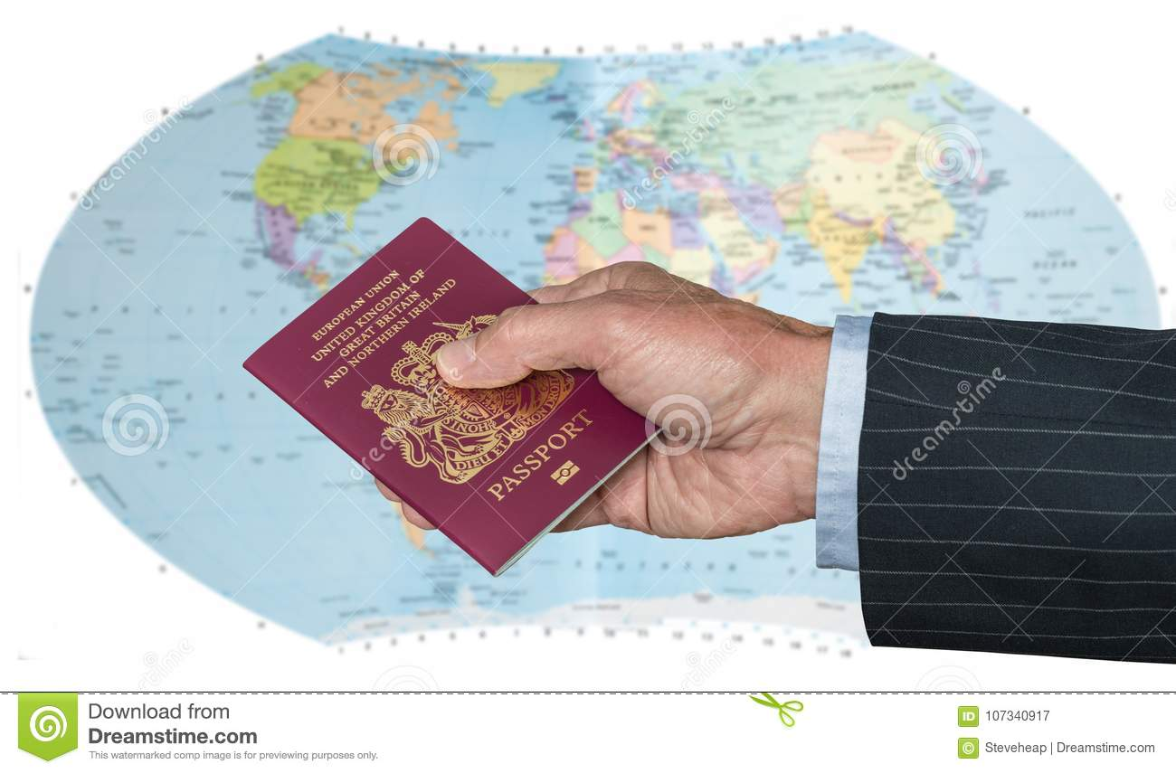 Uk citizen with passport and world map stock image image of modern download uk citizen with passport and world map stock image image of modern globe gumiabroncs Image collections