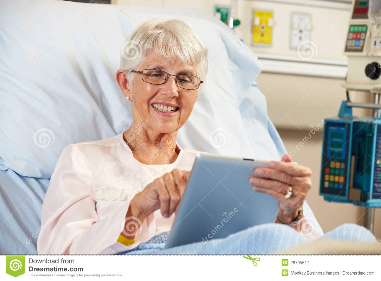 Patient In Hospital Pic : ... Free Stock Photography: Senior Female Patient Relaxing In Hospital Bed