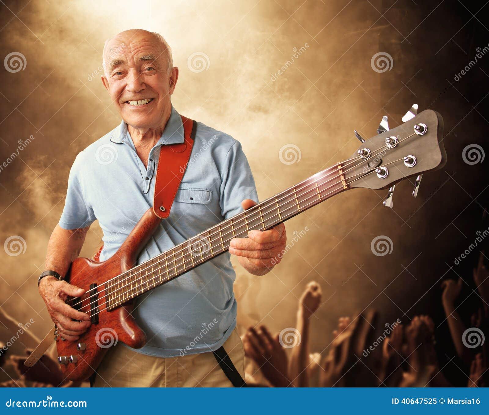 Download Senior guitar man stock image. Image of 80, caucasian - 40647525