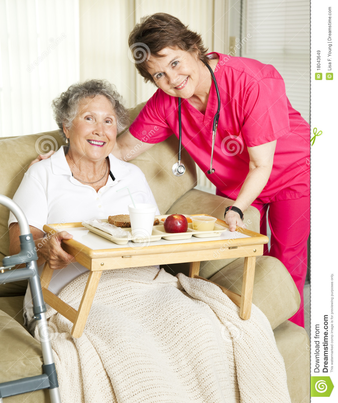 Senior Home Meal Delivery Royalty Free Stock Images ...