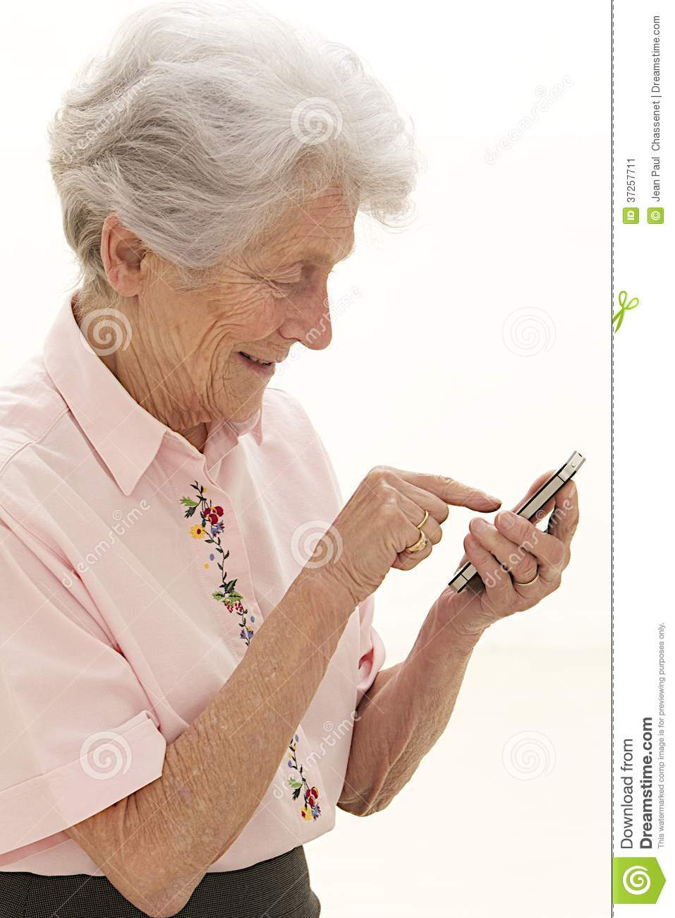 Senior Lady Texting On Mobile Phone Stock Image - Image ... Old Lady On Cell Phone Clip Art