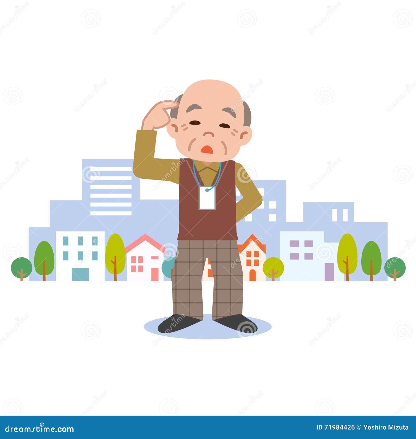 Senior male of dementia