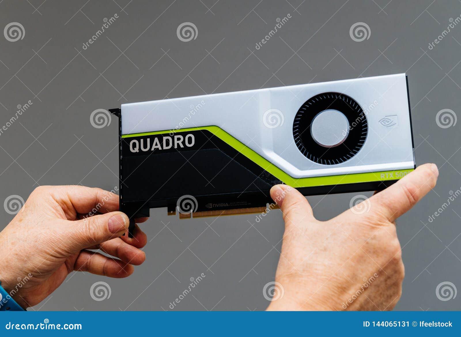Senior Male Holding New Nvidia Quadro RTX Video Card