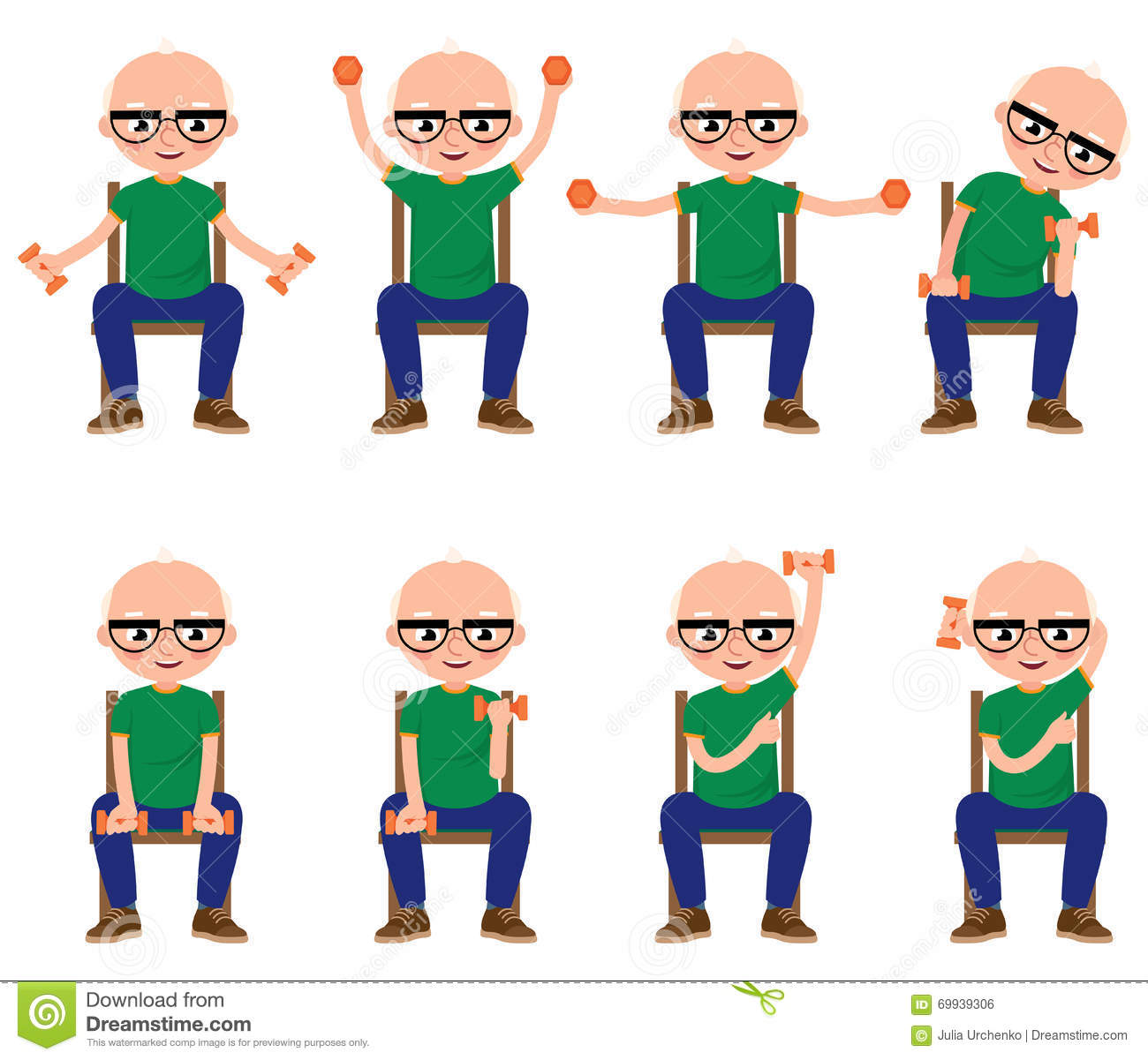 Chair exercises for seniors - Royalty Free Vector Download Senior Man Doing Exercises