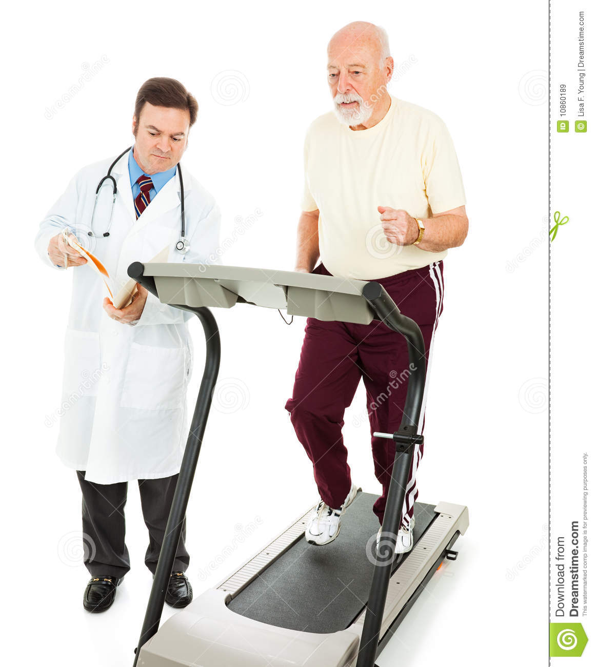 Stress Test Treadmill Time: Fitness Test Stock Image. Image Of Sport