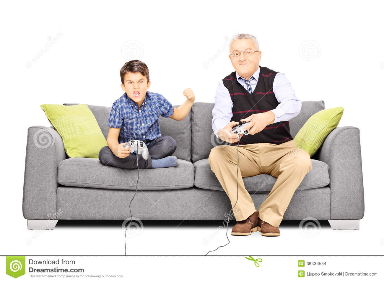 Senior Man Sitting On A Couch And Playing Video Games With  : senior man sitting couch playing video games his n men nephew white background 36434534 from www.dreamstime.com size 1300 x 957 jpeg 120kB