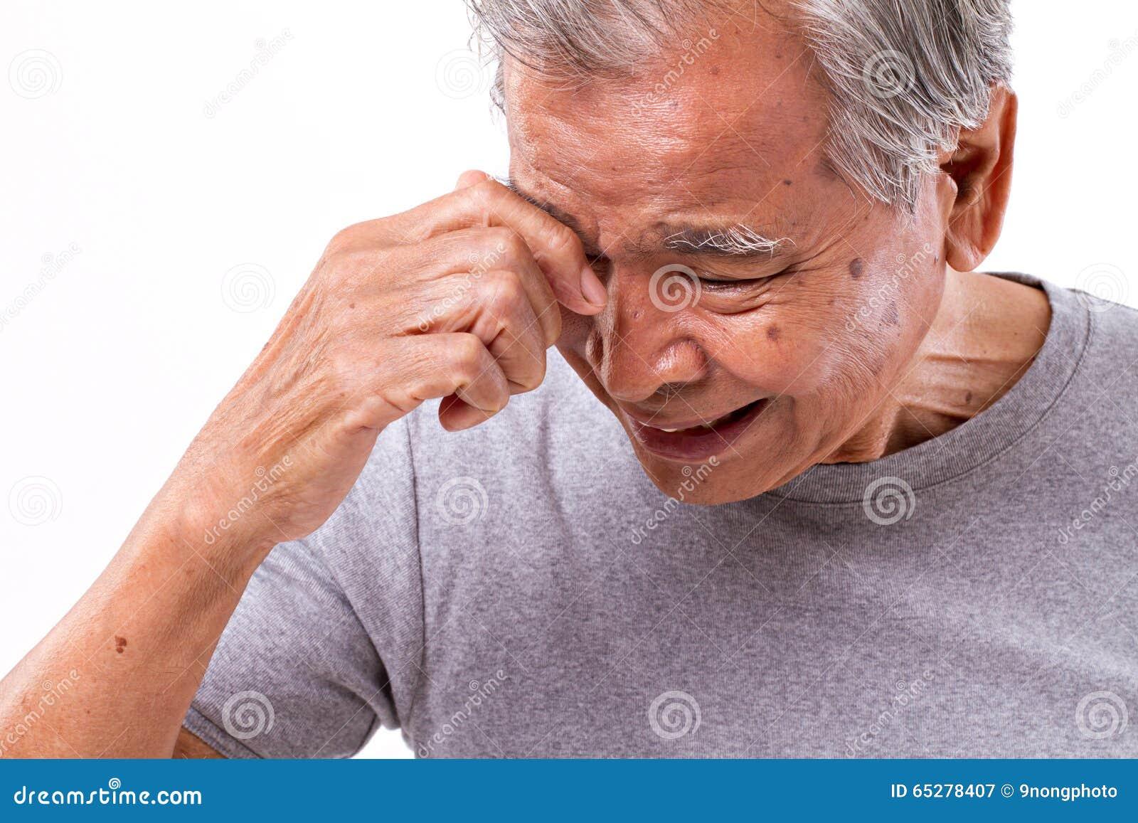 Senior Man Suffering From Headache, Stress, Migraine Stock ...