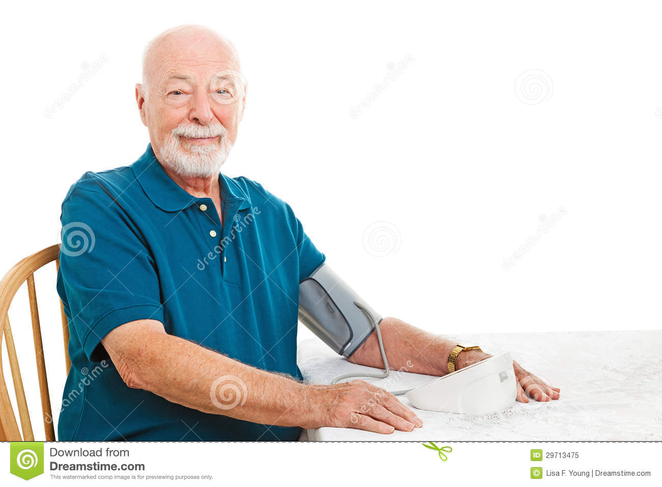 Home Blood Pressure Monitoring Stock Image Image 29713475